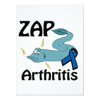 ZAP la artritis Invitación 16,5 X 22,2 Cm