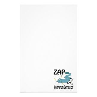 ZAP la depresión postparto Papelería Personalizada