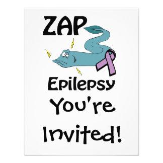 ZAP la epilepsia Invitacion Personalizada