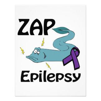 ZAP la epilepsia (púrpura) Comunicado Personalizado