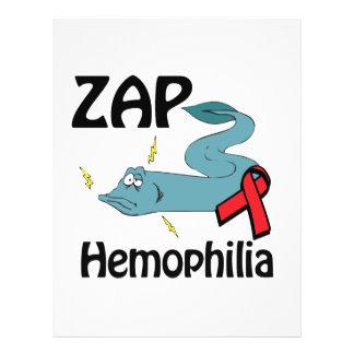 """ZAP la hemofilia Folleto 8.5"""" X 11"""""""