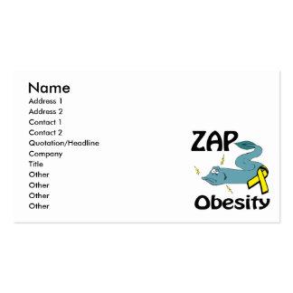 ZAP la obesidad Tarjetas De Visita