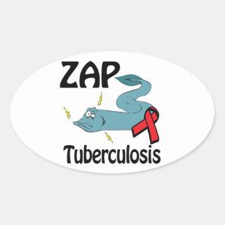 ZAP la tuberculosis Calcomania Ovalada