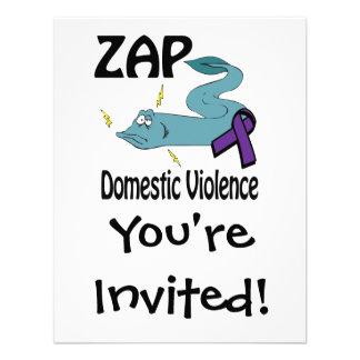 ZAP la violencia en el hogar Invitaciones Personales