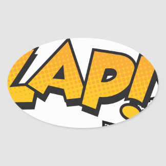 zap oval sticker