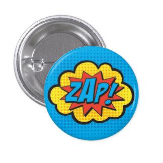 ¡ZAP! PC del Pin del super héroe Pin Redondo 2,5 Cm