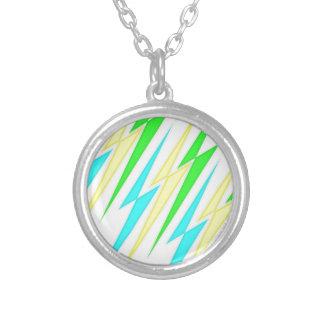 Zap Pop lucky bolts Round Pendant Necklace