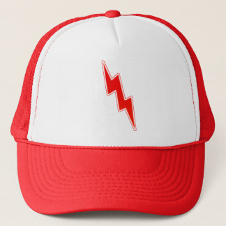 Zap – Red Lightning Bolt Trucker Hat