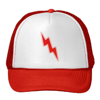 Zap – Red Lightning Bolt Trucker Hat