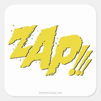 ZAP!!! SQUARE STICKER