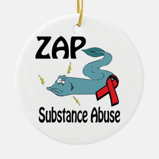 ZAP Substance Abuse Christmas Tree Ornament