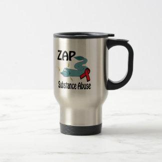 ZAP Substance Abuse 15 Oz Stainless Steel Travel Mug
