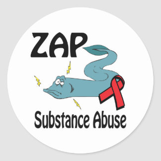 ZAP Substance Abuse Stickers