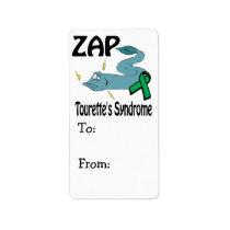 ZAP Tourettes Syndrome Label