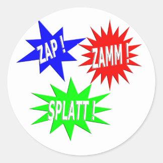 Zap Zamm Splatt Sticker