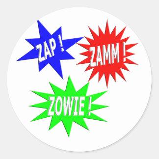Zap Zamm Zowie Sticker