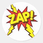 ¡Zap, Zing, prisionero de guerra! Pegatina Redonda