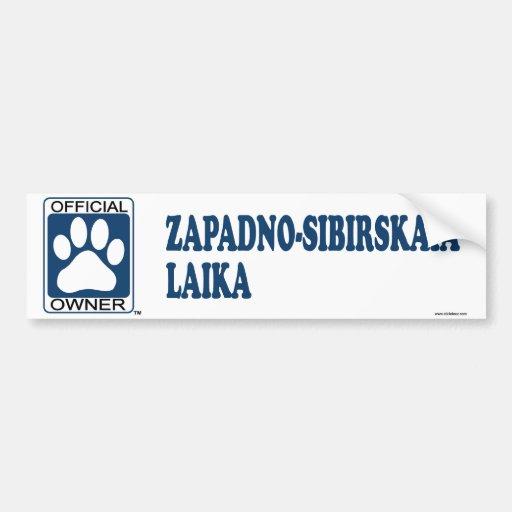ZAPADNO-SIBIRSKAIA LAIKA_Blue Car Bumper Sticker