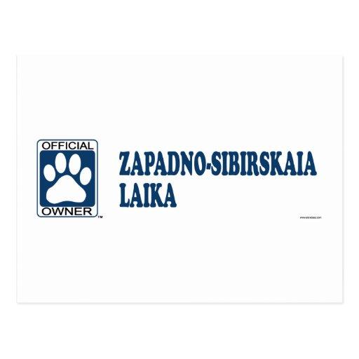 ZAPADNO-SIBIRSKAIA LAIKA_Blue Postcard