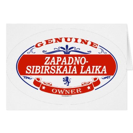 ZAPADNO-SIBIRSKAIA LAIKA_ GREETING CARD