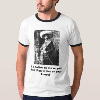 Zapata famoso, es mejor morir en sus pies… camisas