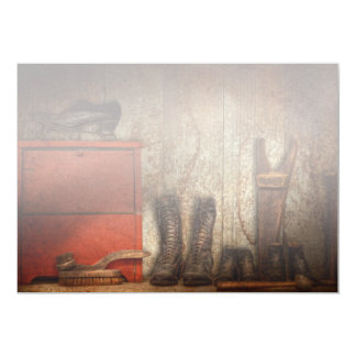 """Zapatero - el limpiabotas 1900 del zapato invitación 5"""" x 7"""""""
