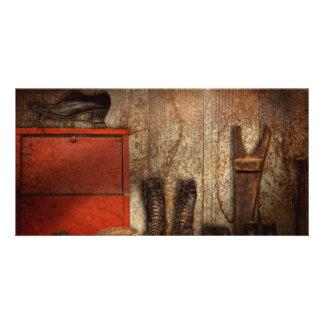 Zapatero - el limpiabotas 1900 del zapato tarjeta fotografica