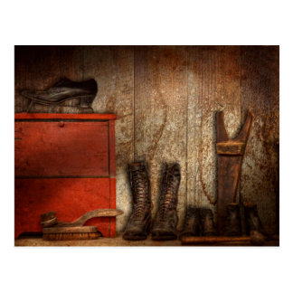 Zapatero - el limpiabotas 1900 del zapato tarjeta postal