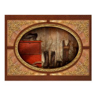 Zapatero - el limpiabotas 1900 del zapato tarjetas postales