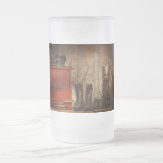 Zapatero - el limpiabotas 1900 del zapato taza de cristal