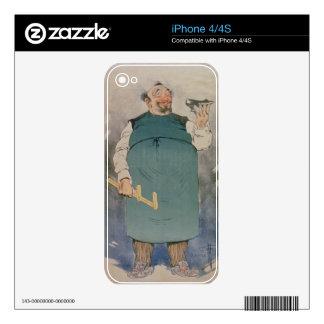 Zapatero (litho del color) calcomanía para iPhone 4S
