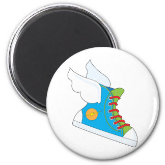 Zapatilla de deporte del vuelo imán redondo 5 cm