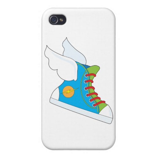 Zapatilla de deporte del vuelo iPhone 4 funda