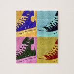 Zapatilla de deporte enrrollada puzzle con fotos