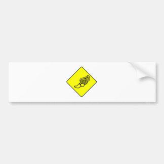 Zapatilla deportiva con la muestra de las alas pegatina de parachoque