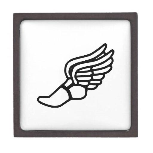Zapatilla deportiva con las alas caja de joyas de calidad
