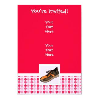 Zapatilla deportiva linda invitación 12,7 x 17,8 cm
