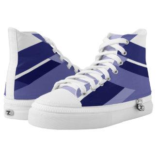 Zapatillas de deporte abstractas azules del top