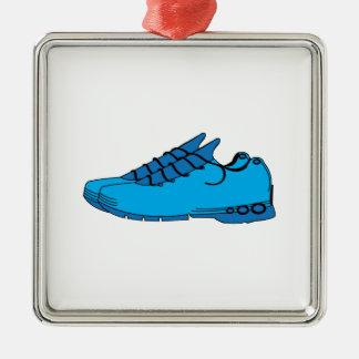 Zapatillas de deporte azules ornamento para arbol de navidad