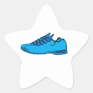 Zapatillas de deporte azules calcomanía forma de estrellae
