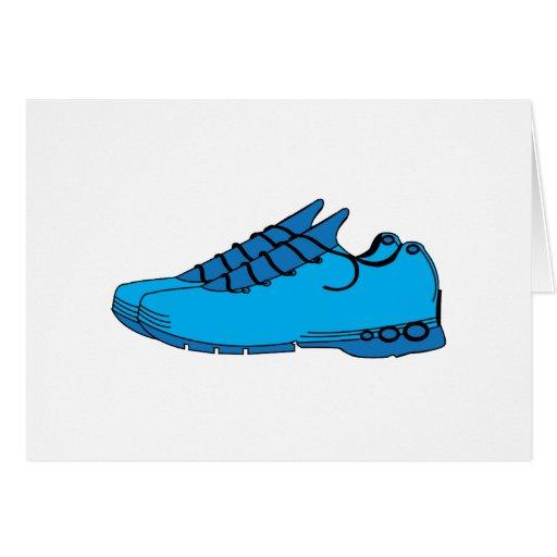 Zapatillas de deporte azules tarjetas
