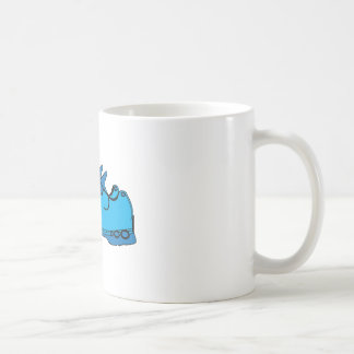 Zapatillas de deporte azules tazas de café