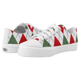 Zapatillas de deporte de Argyle del navidad