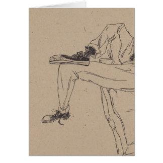Zapatillas de deporte flacas tarjeta de felicitación