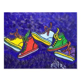 """Zapatillas de deporte invitación 4.25"""" x 5.5"""""""