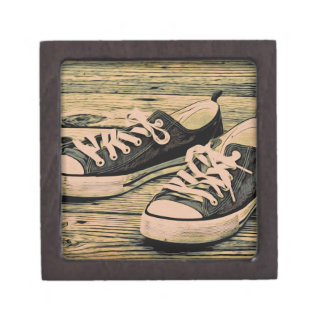 Zapatillas de deporte negras caja de recuerdo de calidad