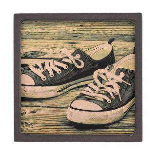 Zapatillas de deporte negras cajas de recuerdo de calidad