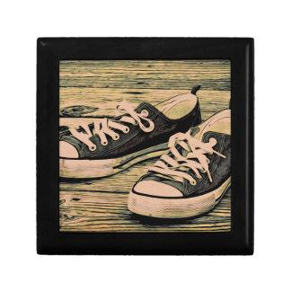 Zapatillas de deporte negras joyero cuadrado pequeño