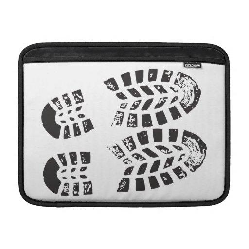 Zapatillas de deporte negras y impresión blanca fundas macbook air