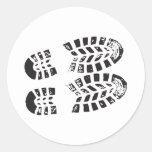 Zapatillas de deporte negras y impresión blanca pegatinas redondas
